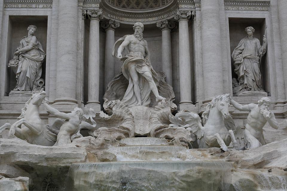 Art, Sculpture, Statue, Marble, Fountain, Rome, Italy