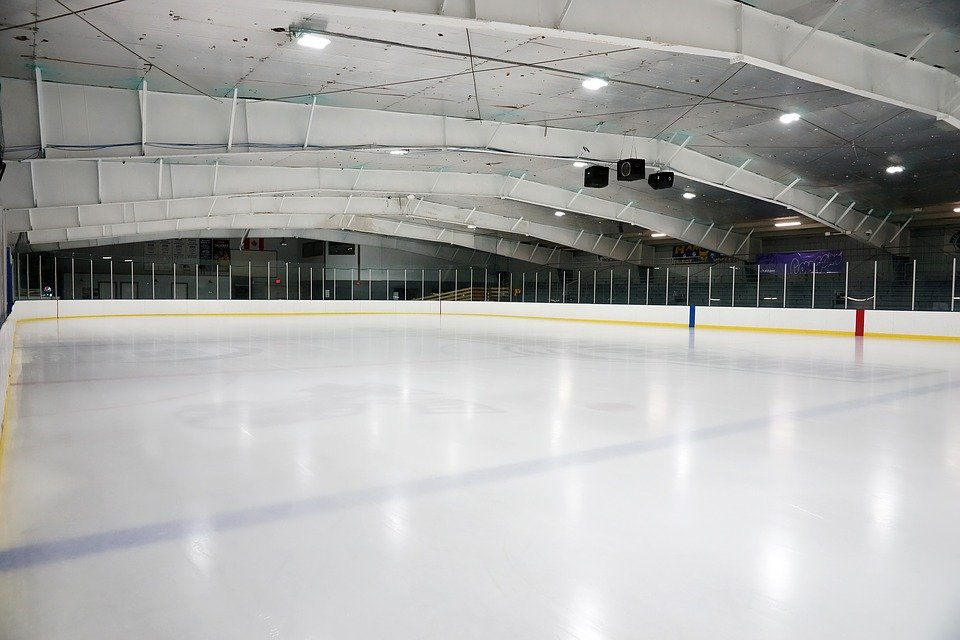 Inomhus, Tömma, Hockey, Rink, Arena, Tak, Modern