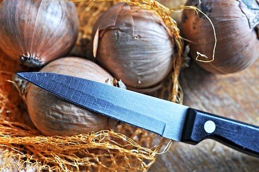 Onion, Vegetable, Food, Nutrition, Knife