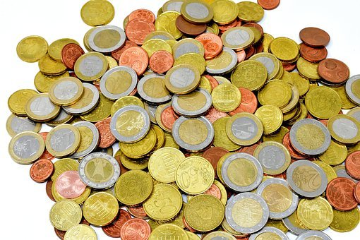 Münzen, Geld, Währung, Euro, Hartgeld