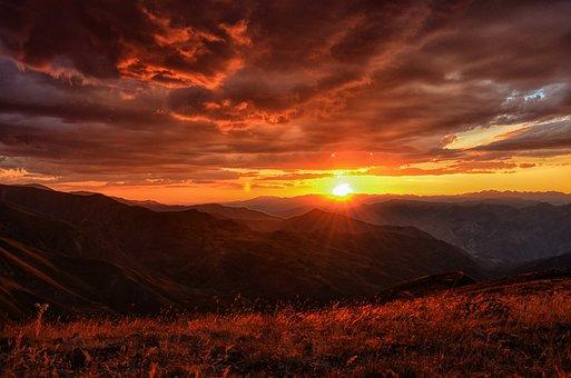 Sonnenuntergang, Dämmerung, Turkei