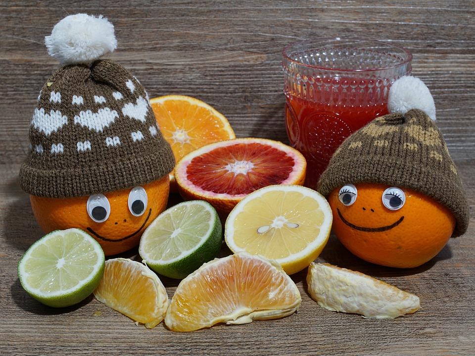 Frutta, Arancione, Alimentari, Agrumi, A Metà, Tropical