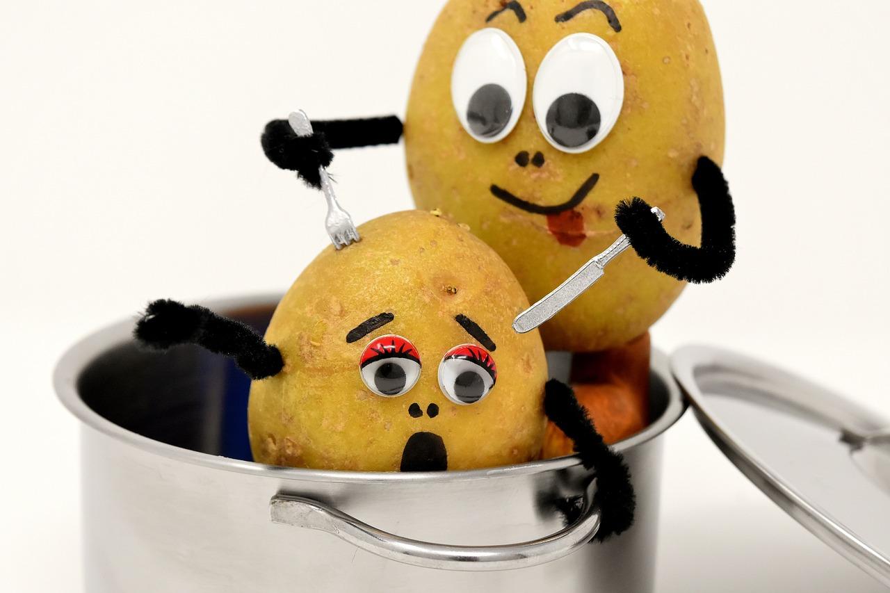 Картошка прикольные рисунки, открытка улыбки