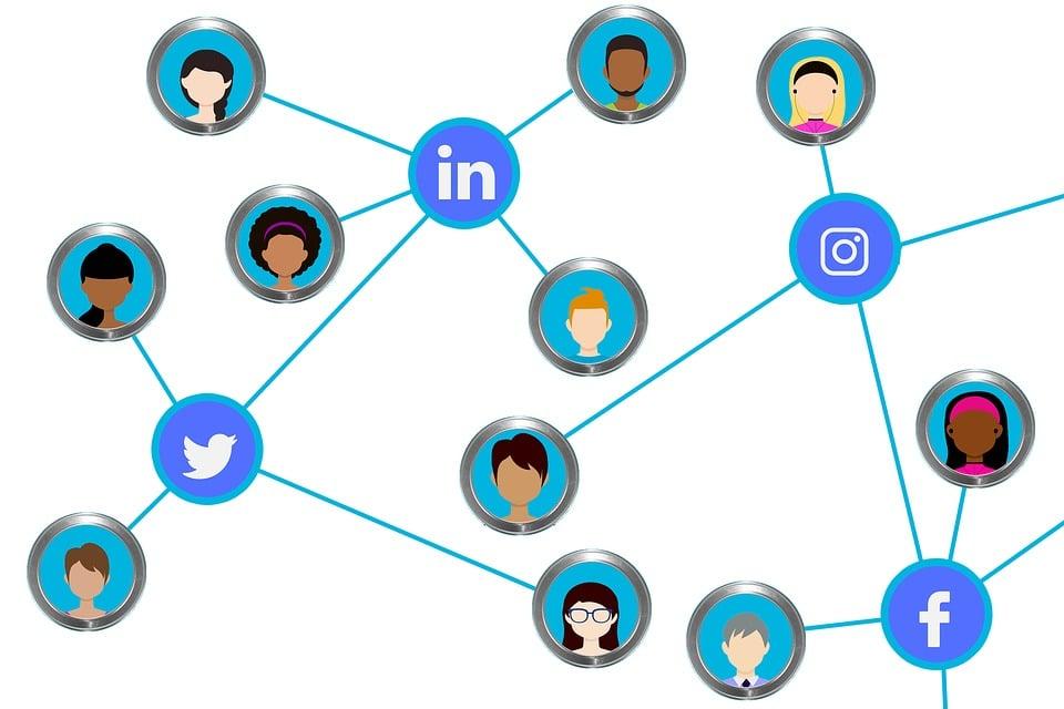 สื่อสังคม, การเชื่อมต่อ, เครือข่าย