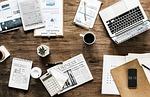 biurko, pracy, biznesu