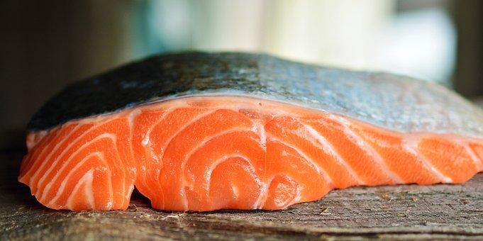 Salmon, Fish, Seafood, Silver Skin, Food