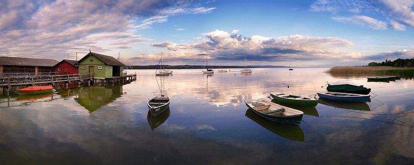 Gewässer, Natur, See, Panorama