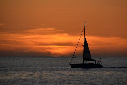 Segelboot sonnenuntergang gemalt  Sonnenuntergang, Meer - Kostenlose Bilder auf Pixabay