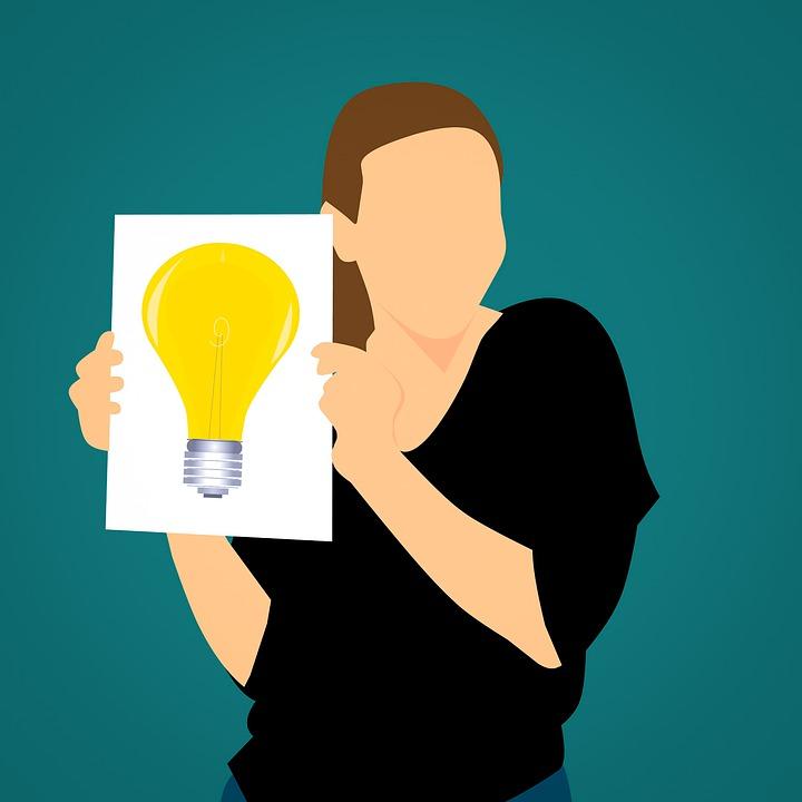 アイデア, 創造的です, ソリューション, インスピレーション, ビジネス, カード, ボード, 通知, 提示