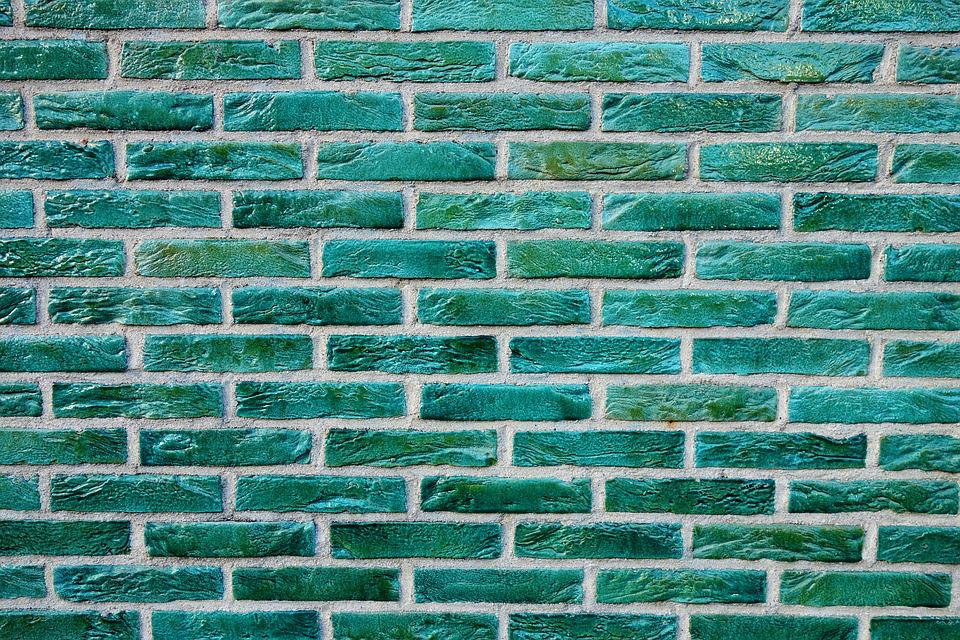brick wall green bricks  u00b7 free photo on pixabay