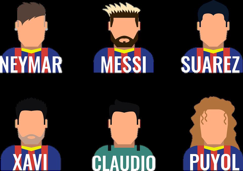 Barcelona Jugadores Dibujos Gráficos Vectoriales Gratis En Pixabay