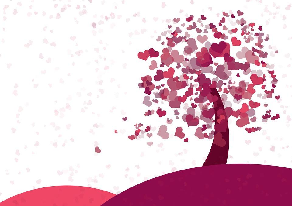 Coração, Árvore, Dia Dos Namorados, Dia Das Mães, Amor