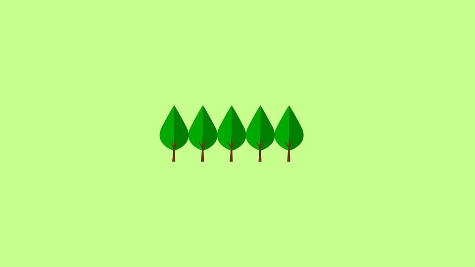 Trees Minimal Wallpaper Green Minimalism