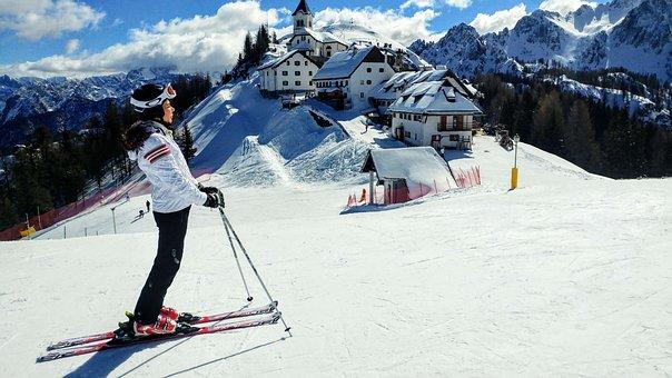 Neige, Hiver, Le Sport, Skieur, Montagne
