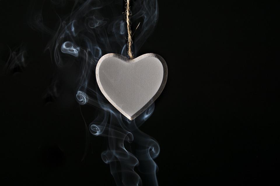 Love Heart Smoke Valentines Day Romanticism