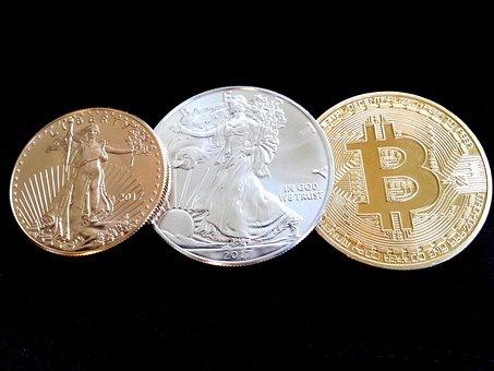 Bitcoin, Gold, Gold Eagle