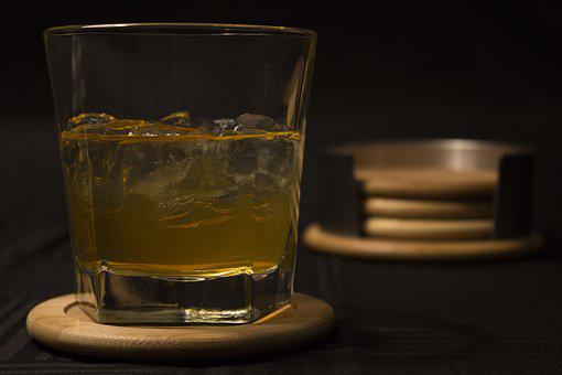 Drink, Glass, Whisky, Coaster, Coasters