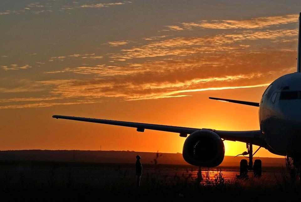 Avião, Aviões, Aeroporto, Nascer, Reino Unido, Asa