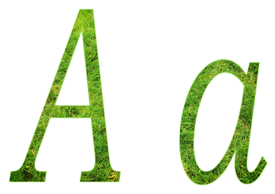 letters alphabet design nature grass letter aa aa