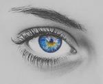 oko, niebieski, rzęsa