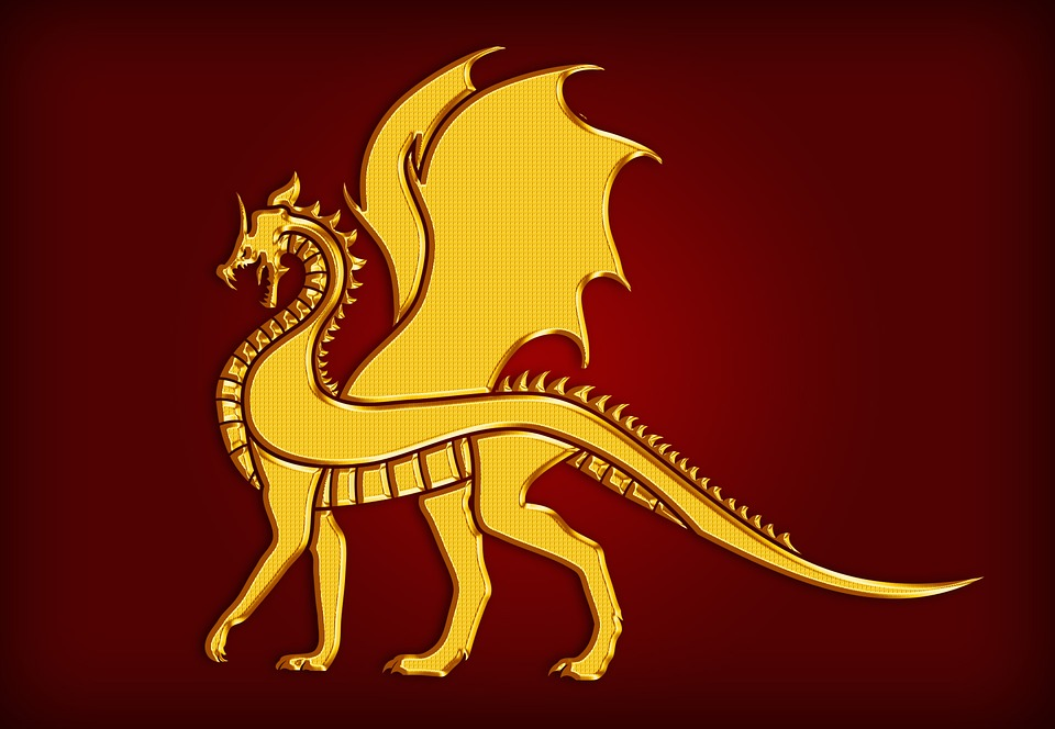 Naga Emas Lambang Gambar Gratis Di Pixabay