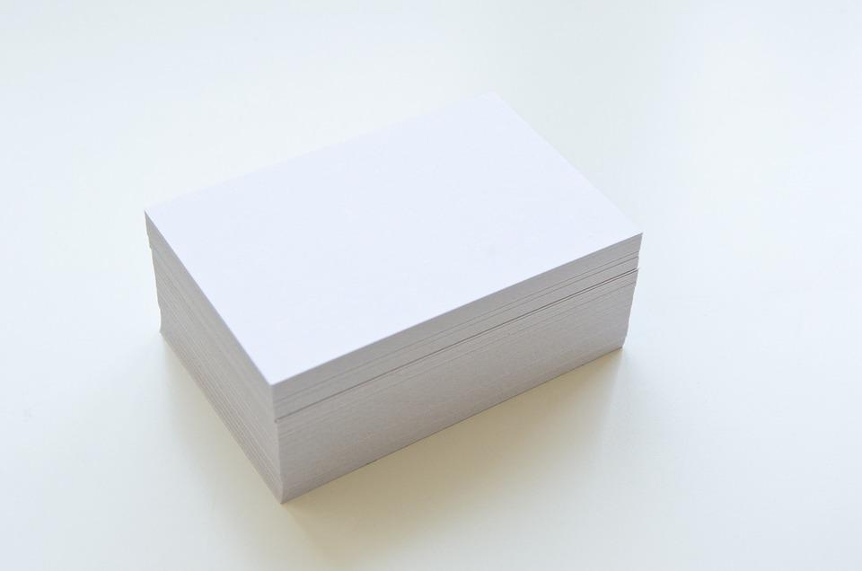 Cartes De Visite Voir Vide Blanc Papier Design