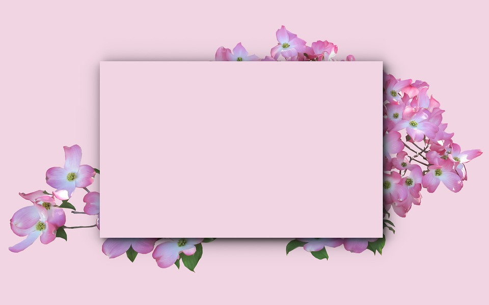 picture frame card flower decoration invitation