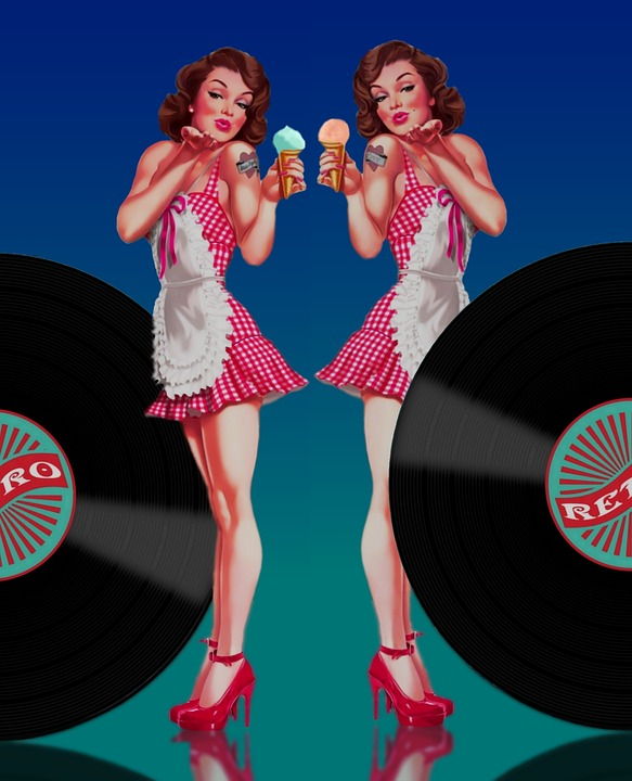 Pin Up Pin Up Girl Twin Jukebox Free Image On Pixabay