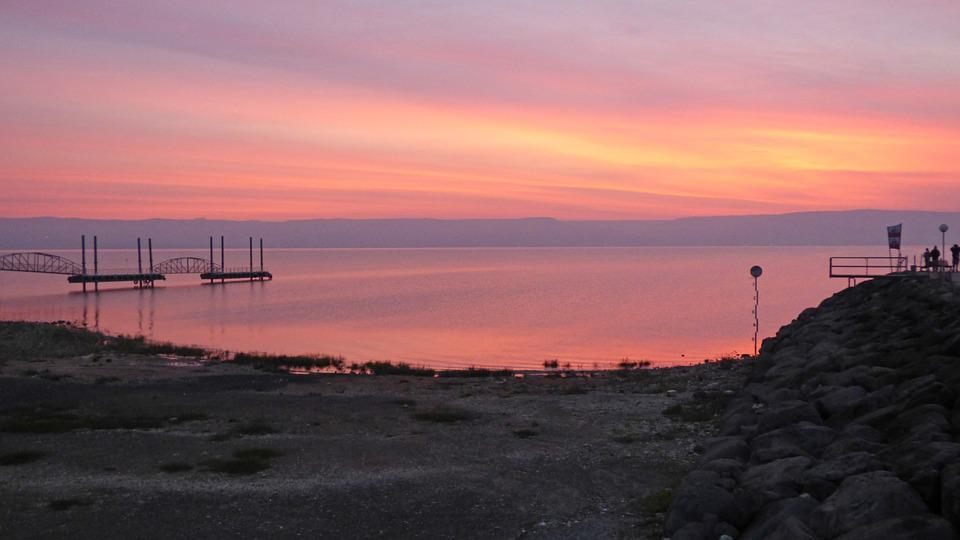 Israel, Galilee, Sea, Sunrise, Dawn, Travel