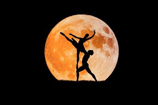 ダンスの友、満月、バレエナ、少年、バレエ