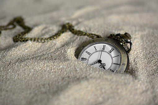 Pocket Watch, Time Of, Sand, Time, Clock