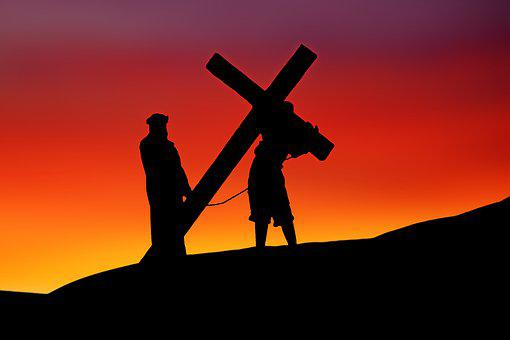 イースター, イエス, はりつけ, クロス, 宗教, 信仰, 歴史, シルエット