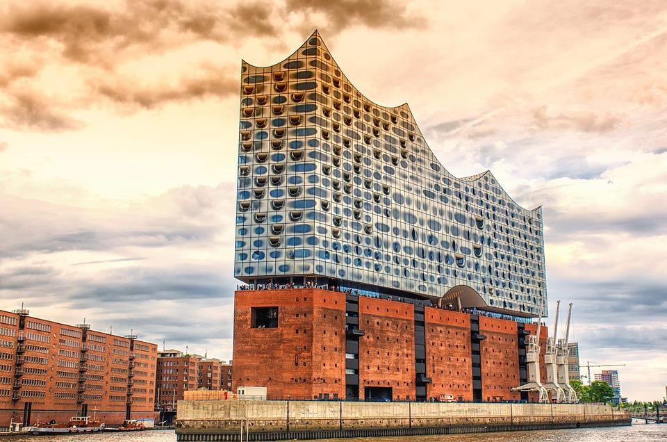 Kostenloses foto architektur elbphilharmonie - Architektur bilder ...