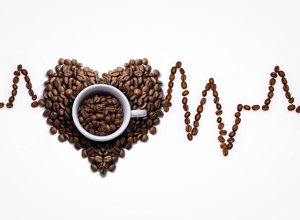 Coffee Cup, Kopi, Piala, Biji Kopi, Ekg Kurva