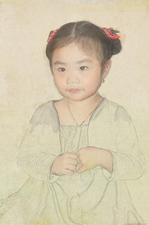 Portre Kız Boyama Pixabayde ücretsiz Resim