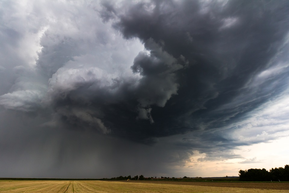 Storm, Thunderstorm, Super Cell, Nature, Landscape