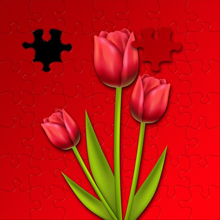 Tulipani Puzzle Sfondo Immagini Gratis Su Pixabay