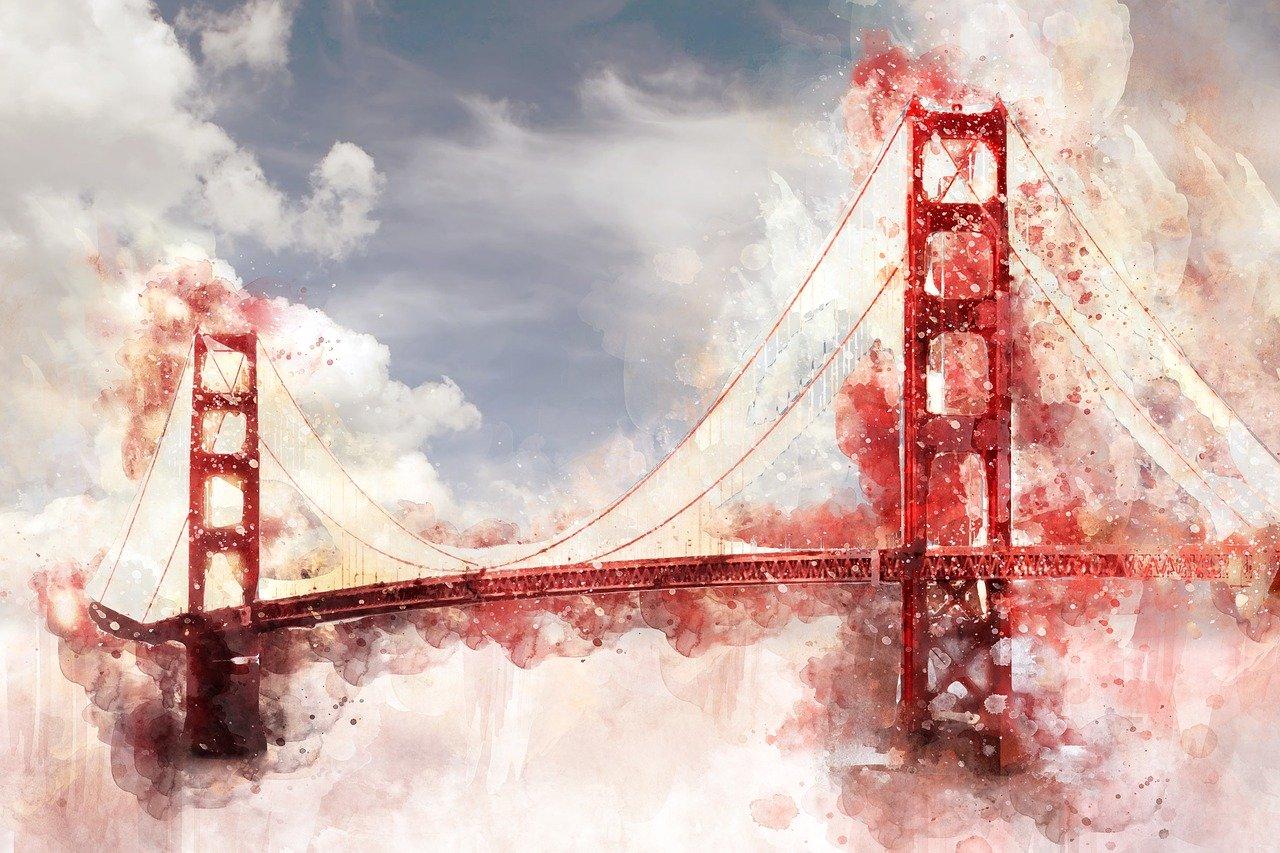 постер мост золотые ворота праздников еще далеко
