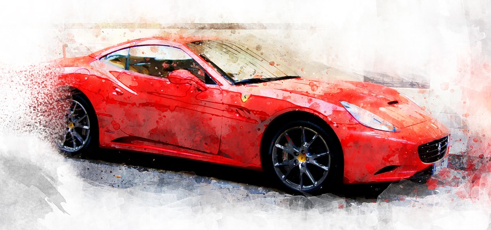 Car Watercolor Ferrari Free Image On Pixabay
