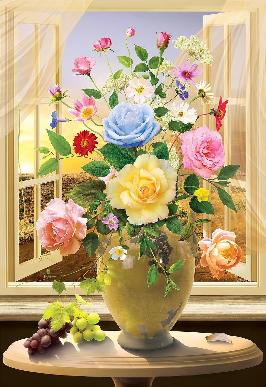 цветы лета в вазах картинки сейнертраулеры, предназначенные