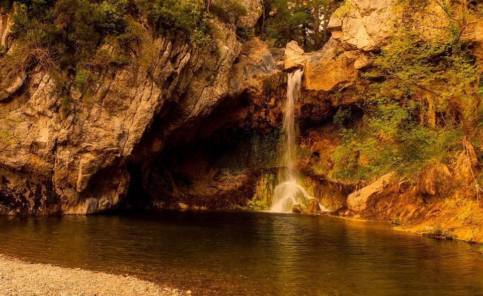 Water, Nature, Rock, Travel, River, Waterfall, Greece