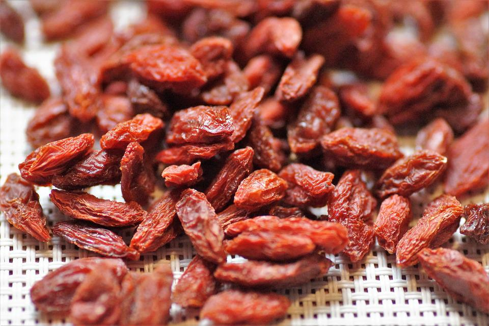 Goji, Berry, Dried, Fruits, Vitamins, Healthy