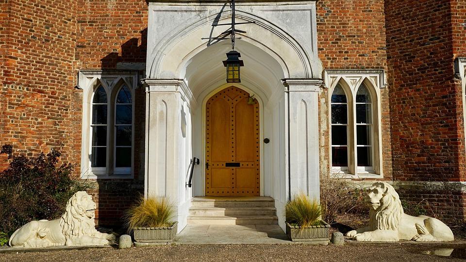 Architecture Door Doorway House Facade Old Gothic