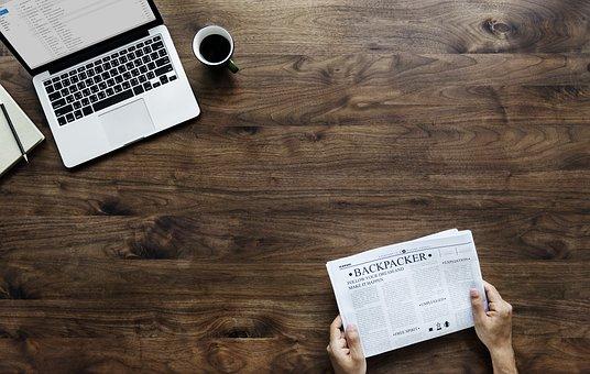 Paper, Desk, Table, Break, Coffee