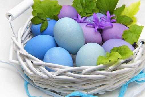 Wielkanoc, Jajko, Koszyk, Pisanki