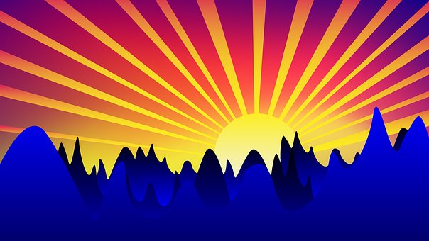Sunrise, Background, Sun, Landscape