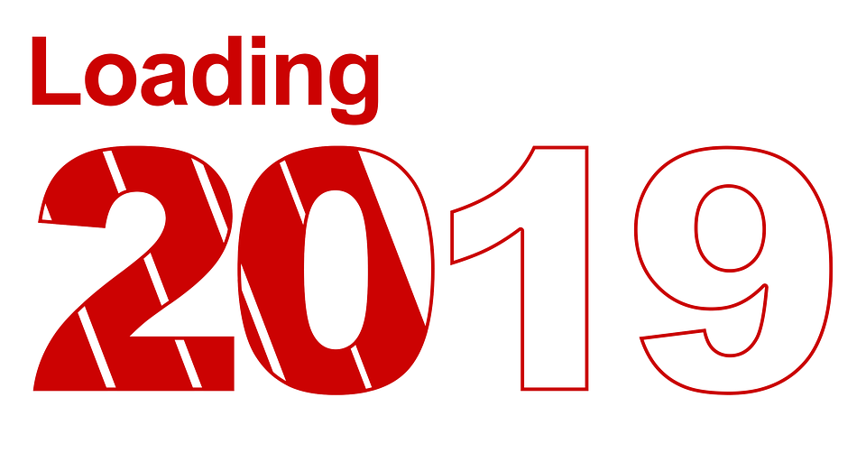 Happy New Year, 2019, Salutations, Nouvel An, Année
