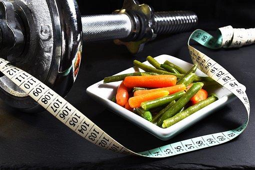 Fitness, Dumbbell, Vegetables, Exercise