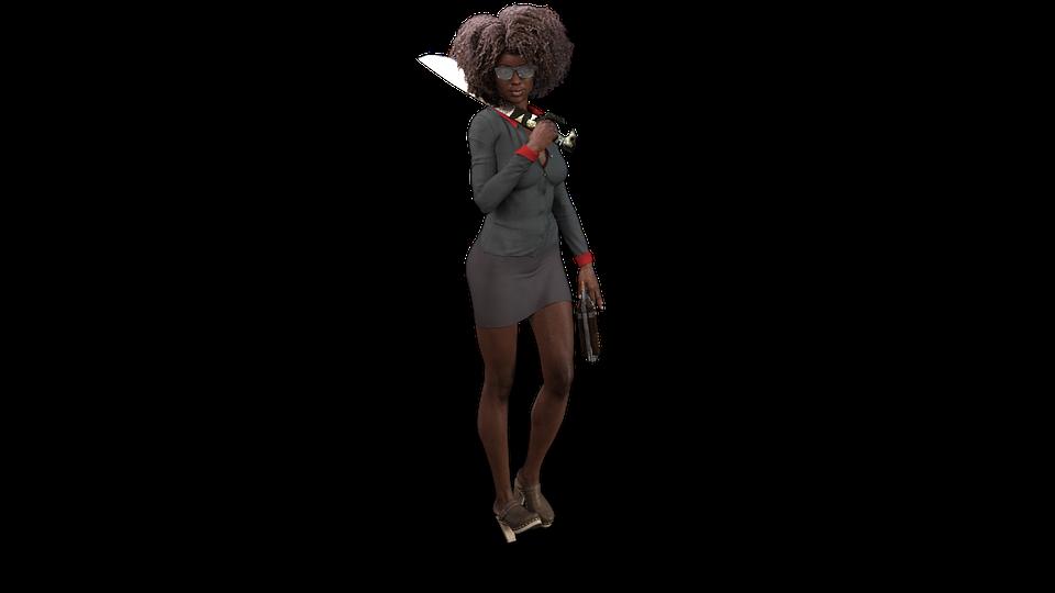 female 3d character comic free image on pixabay