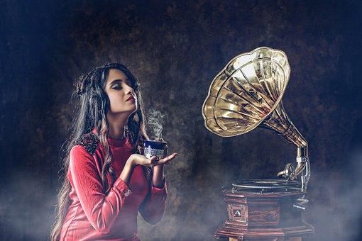 Erwachsene, Menschen, Musik, Frau